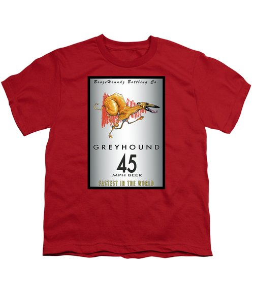 Greyhound 45 Mph Beer Youth T-Shirt by John LaFree
