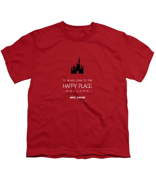 Happy Place Youth T-Shirt by Nancy Ingersoll