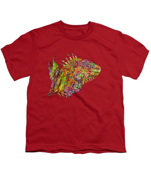 Iguana Hot Youth T-Shirt by Carol Cavalaris