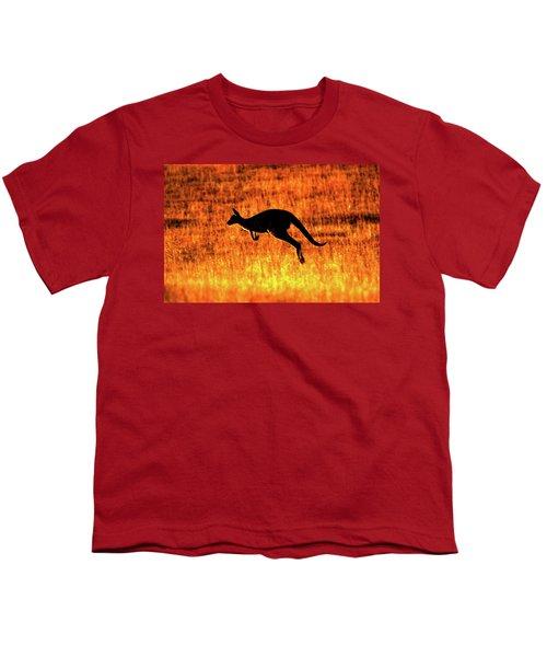 Kangaroo Sunset Youth T-Shirt by Bruce J Robinson