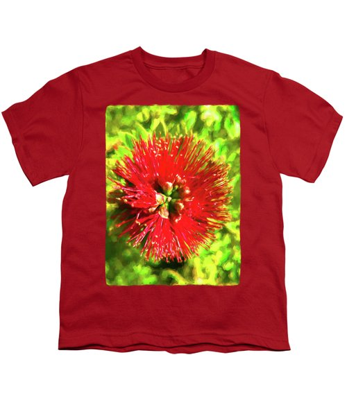 My Surreal Christmas Flower Youth T-Shirt by Jackie VanO
