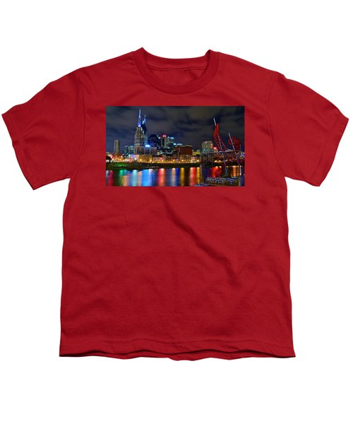 Nashville After Dark Youth T-Shirt by Frozen in Time Fine Art Photography