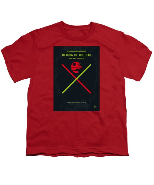 No156 My Star Wars Episode Vi Return Of The Jedi Minimal Movie Poster Youth T-Shirt by Chungkong Art