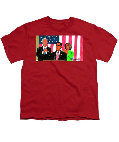 Obama's State Of The Union '10 Youth T-Shirt by Candace Lovely