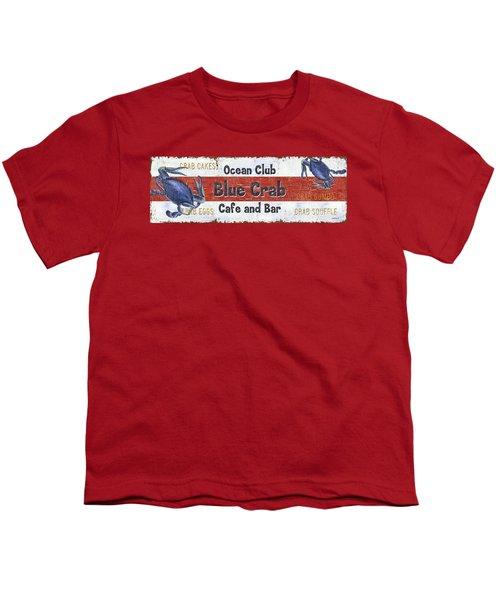 Ocean Club Cafe Youth T-Shirt by Debbie DeWitt