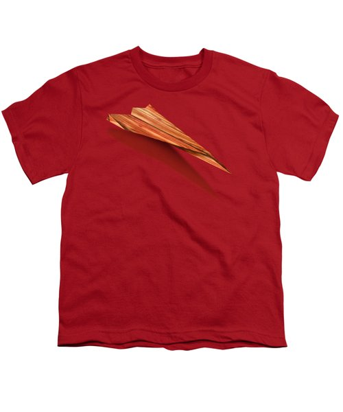 Paper Airplanes Of Wood 4 Youth T-Shirt by YoPedro
