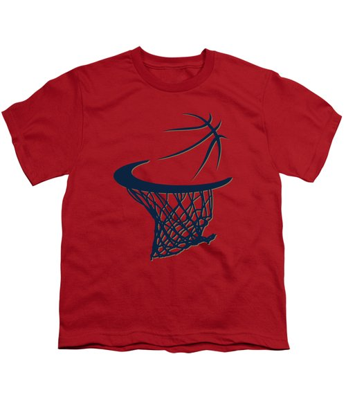 Pelicans Basketball Hoop Youth T-Shirt by Joe Hamilton