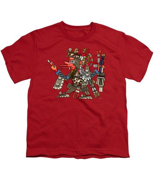 Quetzalcoatl In Human Warrior Form - Codex Borgia Youth T-Shirt by Serge Averbukh