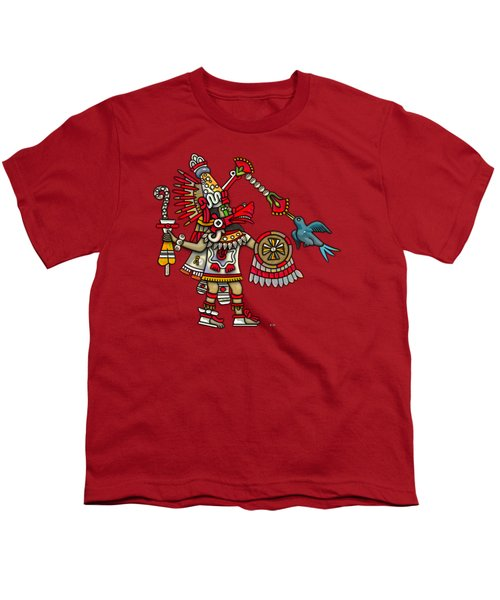 Quetzalcoatl In Human Warrior Form - Codex Magliabechiano Youth T-Shirt by Serge Averbukh