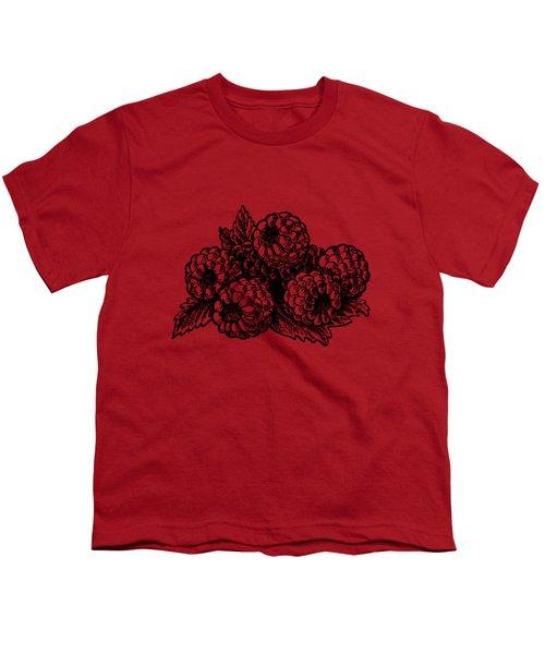 Rasbperries Youth T-Shirt by Irina Sztukowski