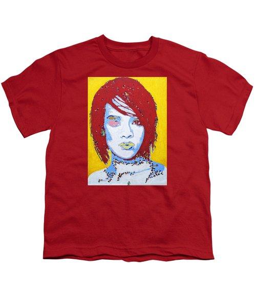 Rihanna  Youth T-Shirt by Stormm Bradshaw