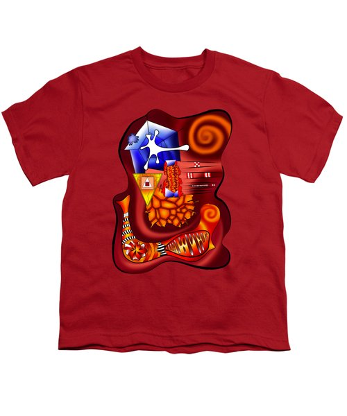 Versophomus V3 - Abstract Digital Painting Youth T-Shirt by Cersatti