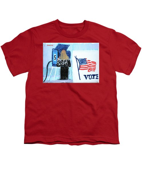 Voting Booth 2008 Youth T-Shirt by Candace Lovely