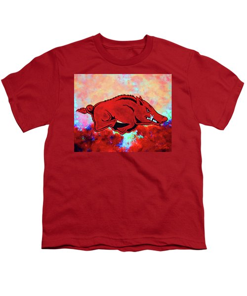 Woo Pig Sooie 3 Youth T-Shirt by Belinda Nagy