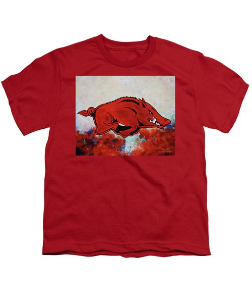 Woo Pig Sooie Youth T-Shirt by Belinda Nagy