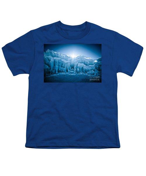 Ice Castle Youth T-Shirt by Edward Fielding
