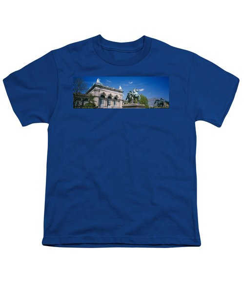 Low Angle View Of A Statue In Front Youth T-Shirt by Panoramic Images