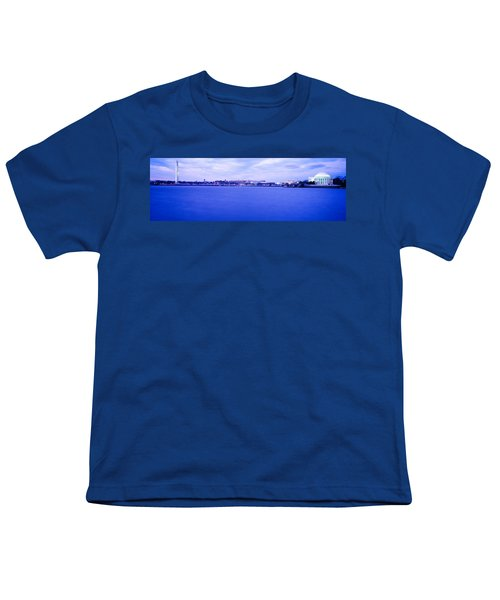 Tidal Basin Washington Dc Youth T-Shirt by Panoramic Images