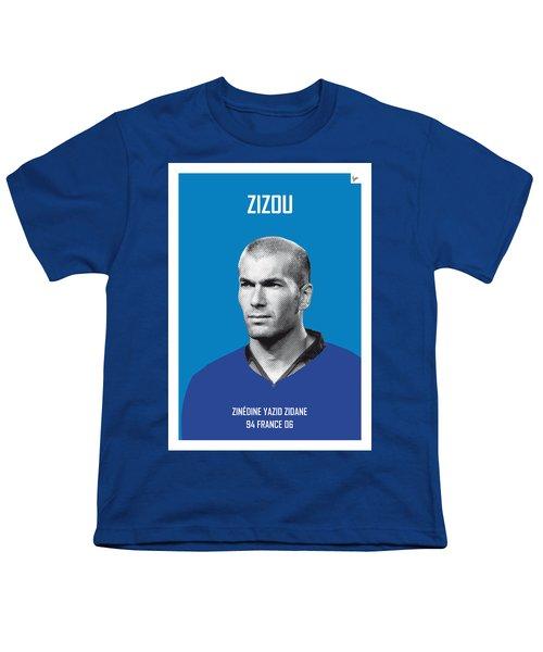 My Zidane Soccer Legend Poster Youth T-Shirt by Chungkong Art