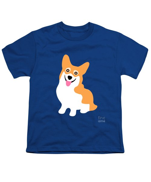 Smiling Corgi Pup Youth T-Shirt by Antique Images
