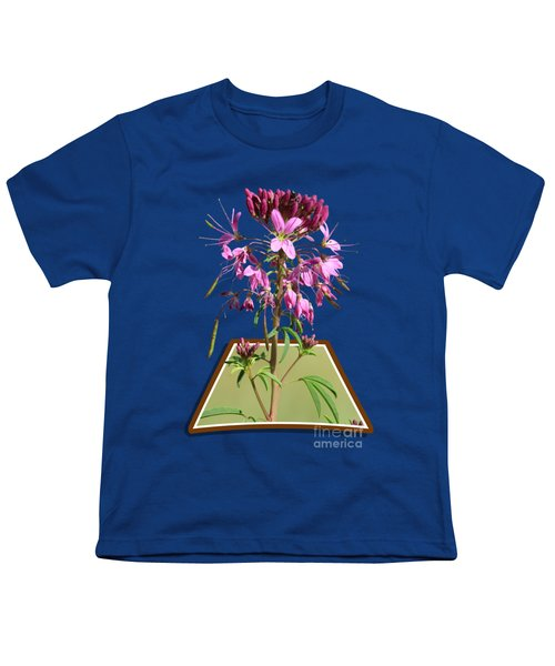Rocky Mountain Bee Plant Youth T-Shirt by Shane Bechler