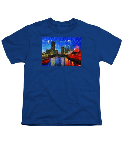 City Living - Tokyo - Skyline Youth T-Shirt by Sir Josef Social Critic - ART