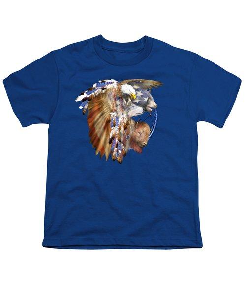 Freedom Lives Youth T-Shirt by Carol Cavalaris