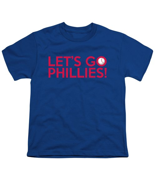 Let's Go Phillies Youth T-Shirt by Florian Rodarte