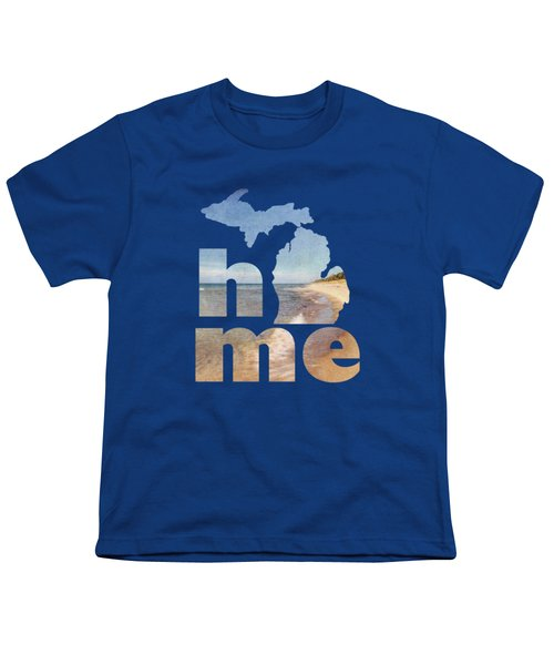 Michigan Home Youth T-Shirt by Emily Kay
