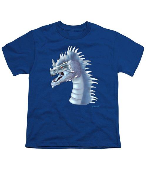 Mystical Ice Dragon Youth T-Shirt by Glenn Holbrook