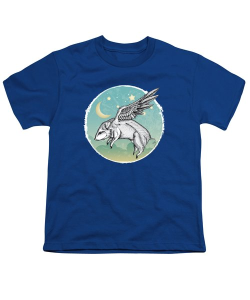 Pigs Fly - 2 Youth T-Shirt by Mary Machare