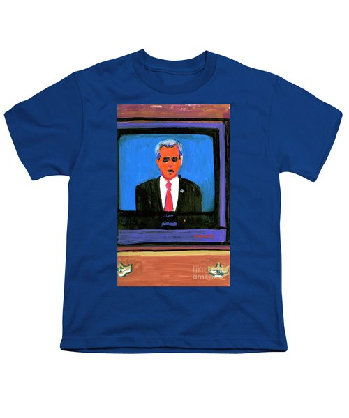 President George Bush Debate 2004 Youth T-Shirt by Candace Lovely