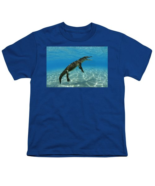 Saltwater Crocodile Youth T-Shirt by Franco Banfi and Photo Researchers