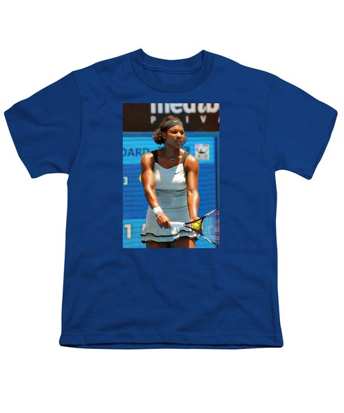 Serena Williams Youth T-Shirt by Andrei SKY