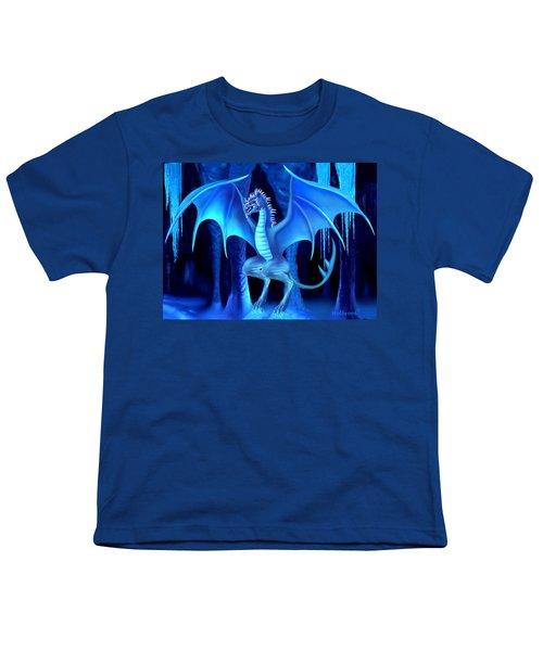 The Blue Ice Dragon Youth T-Shirt by Glenn Holbrook
