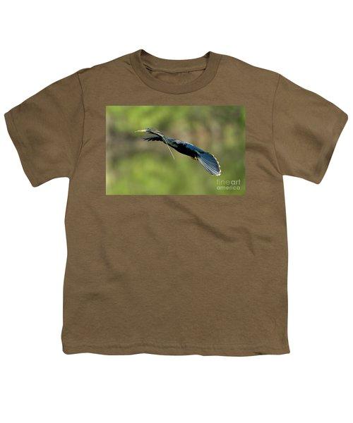 Anhinga Youth T-Shirt by Anthony Mercieca