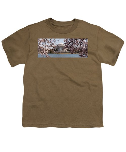 Cherry Blossom Trees In The Tidal Basin Youth T-Shirt by Panoramic Images