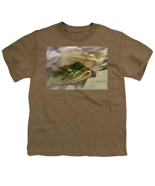 Green Asparagus On Burlab Youth T-Shirt by Iris Richardson