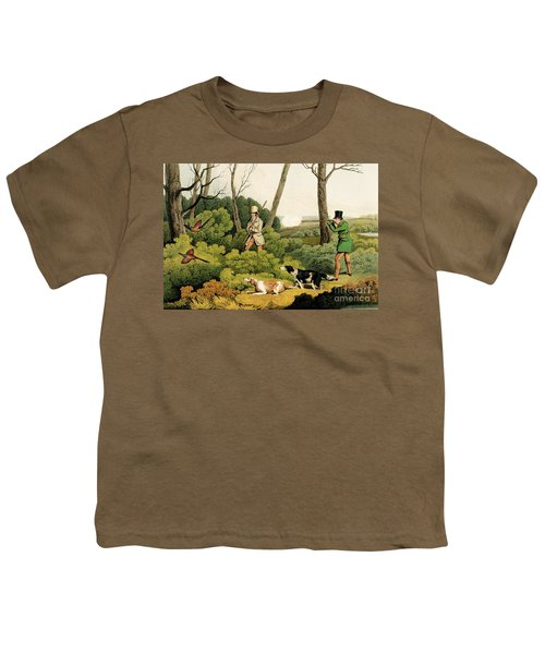 Pheasant Shooting Youth T-Shirt by Henry Thomas Alken