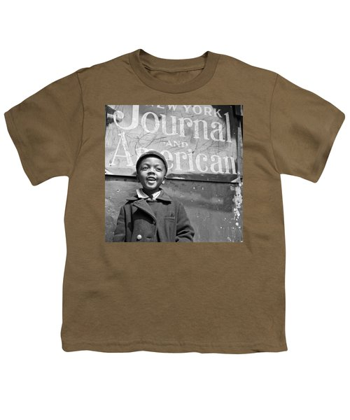 A Young Harlem Newsboy Youth T-Shirt by Underwood Archives