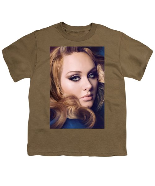 Adele Artwork  Youth T-Shirt by Sheraz A