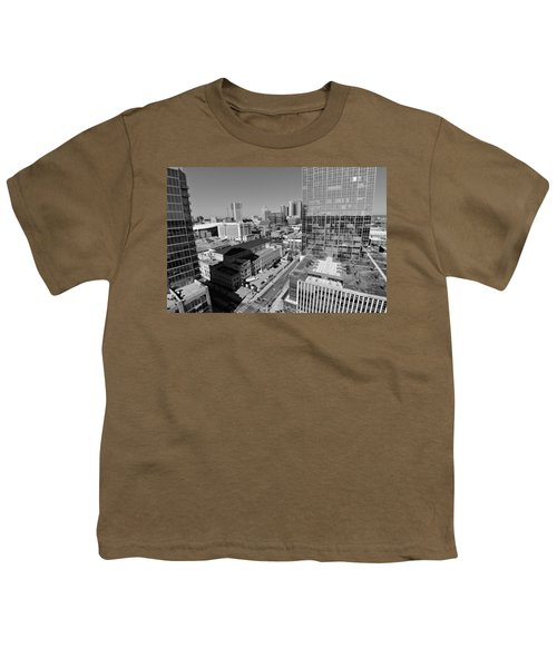 Aerial Photography Downtown Nashville Youth T-Shirt by Dan Sproul