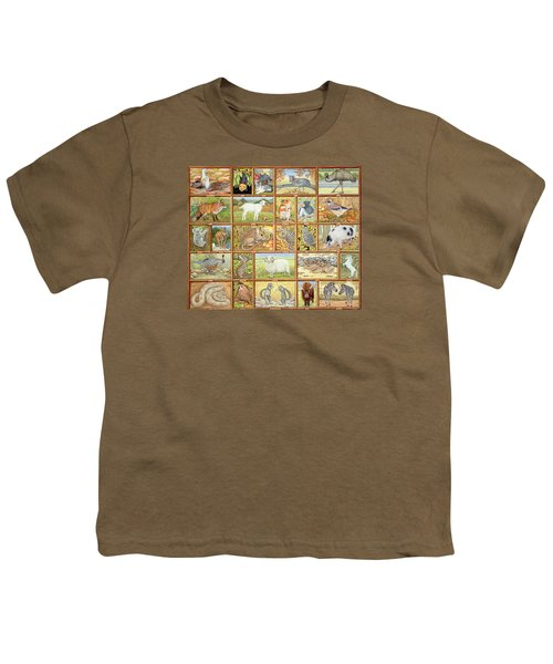 Alphabetical Animals Youth T-Shirt by Ditz
