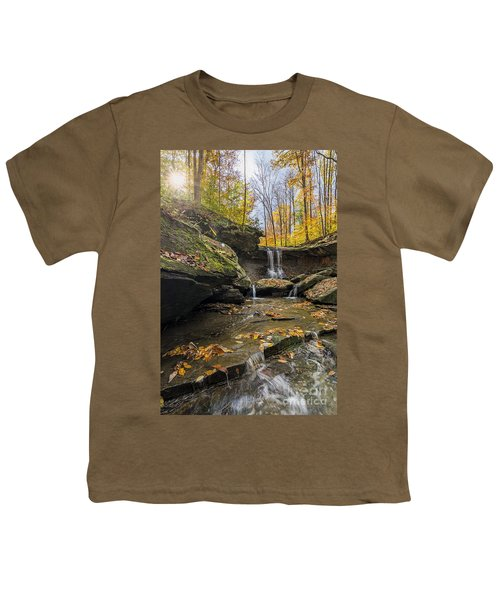 Autumn Flows Youth T-Shirt by James Dean