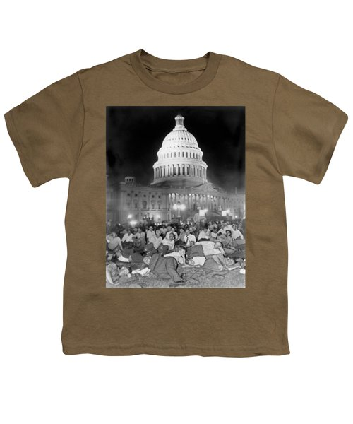 Bonus Army Sleeps At Capitol Youth T-Shirt by Underwood Archives
