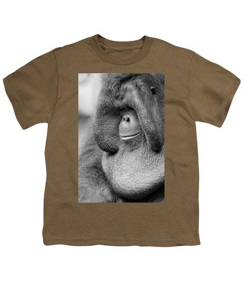 Bornean Orangutan V Youth T-Shirt by Lourry Legarde