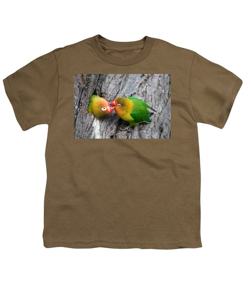 Close-up Of A Pair Of Lovebirds, Ndutu Youth T-Shirt by Panoramic Images