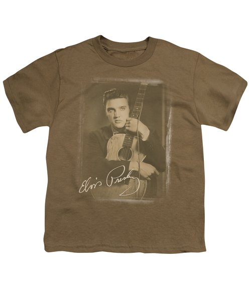 Elvis - Guitar Man Youth T-Shirt by Brand A