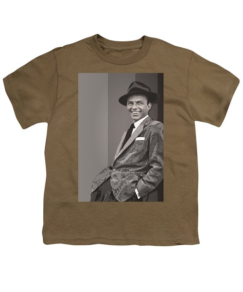 Frank Sinatra Youth T-Shirt by Daniel Hagerman