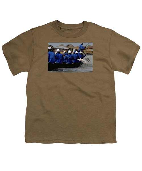 Youth T-Shirt featuring the photograph Ganvie - Lake Nokoue by Travel Pics